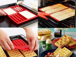 SILICONE FORM FOR BAKING WAFFLES