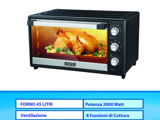 ELECTRIC OVEN 45 LITERS WITH VENTILATED TIMER INTERNAL LIGHT