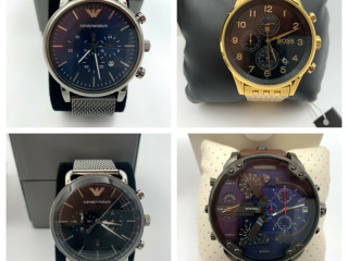Lot of 22pcs original designer watches wholesale - new with boxes.