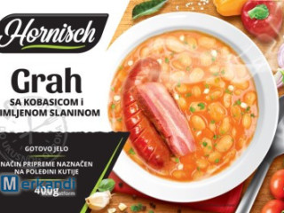 Ready meal - beans with sausage and bacon 400g