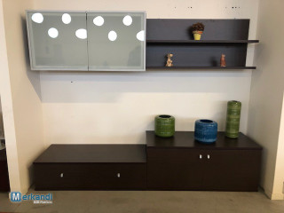Stock of living room walls and tv furniture