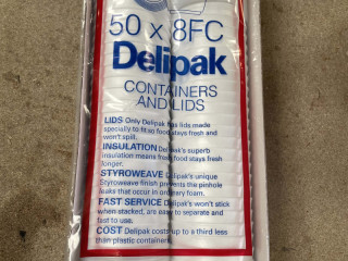 Delipak x50 8FC Containers and lids
