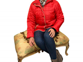 Women's quilted jackets in red