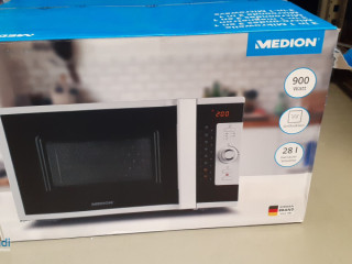 Microwave, 28 l, 900 W, buttons, dial, white