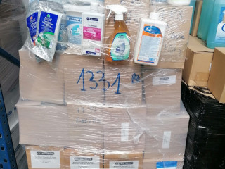 Pallet of car care products