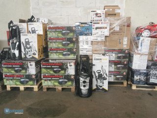 MIXED PALLETS OF ELECTRONICS, SMALL HOUSEHOLDS APPLIANCES, TOOLS, TOYS