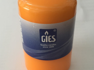 PILLAR CANDLES BRAND GIES 80x48mm COLOR ORANGE SPECIAL ITEM CANDLES