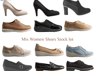 Leather mix pallet of shoes for women
