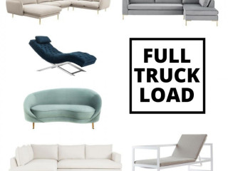 Full truckload of furniture, accessories, home furnishings on pallets | Grade B