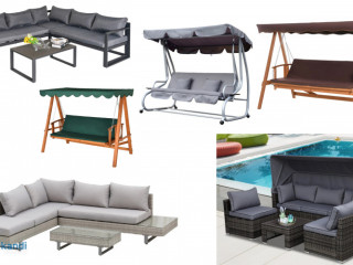 Garden and home furnitures, toys, sport equipment.