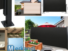 Side awning privacy screen wind protection terrace awning camping