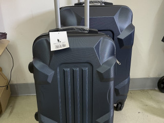 Set of 2 suitcases M / S 4 wheels ABS Navy blue