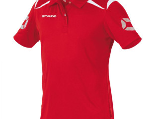 Red/white Stanno Forza climatec kids polo sport t-shirts