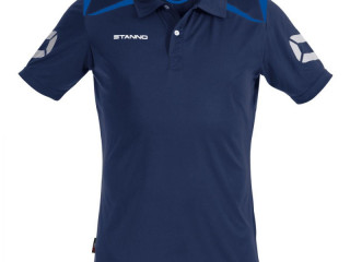 Navy/blue Stanno Forza climatec kids polo sport t-shirts