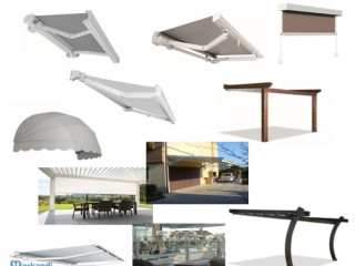 Stock Outdoor awnings and pergolas for home and garden KE Made In Ital