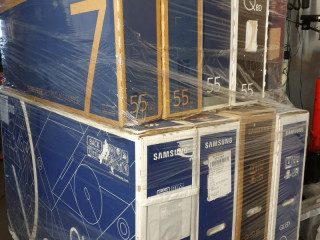 Truck load with Samsung TV, washing machines, refrigerators 141 pieces